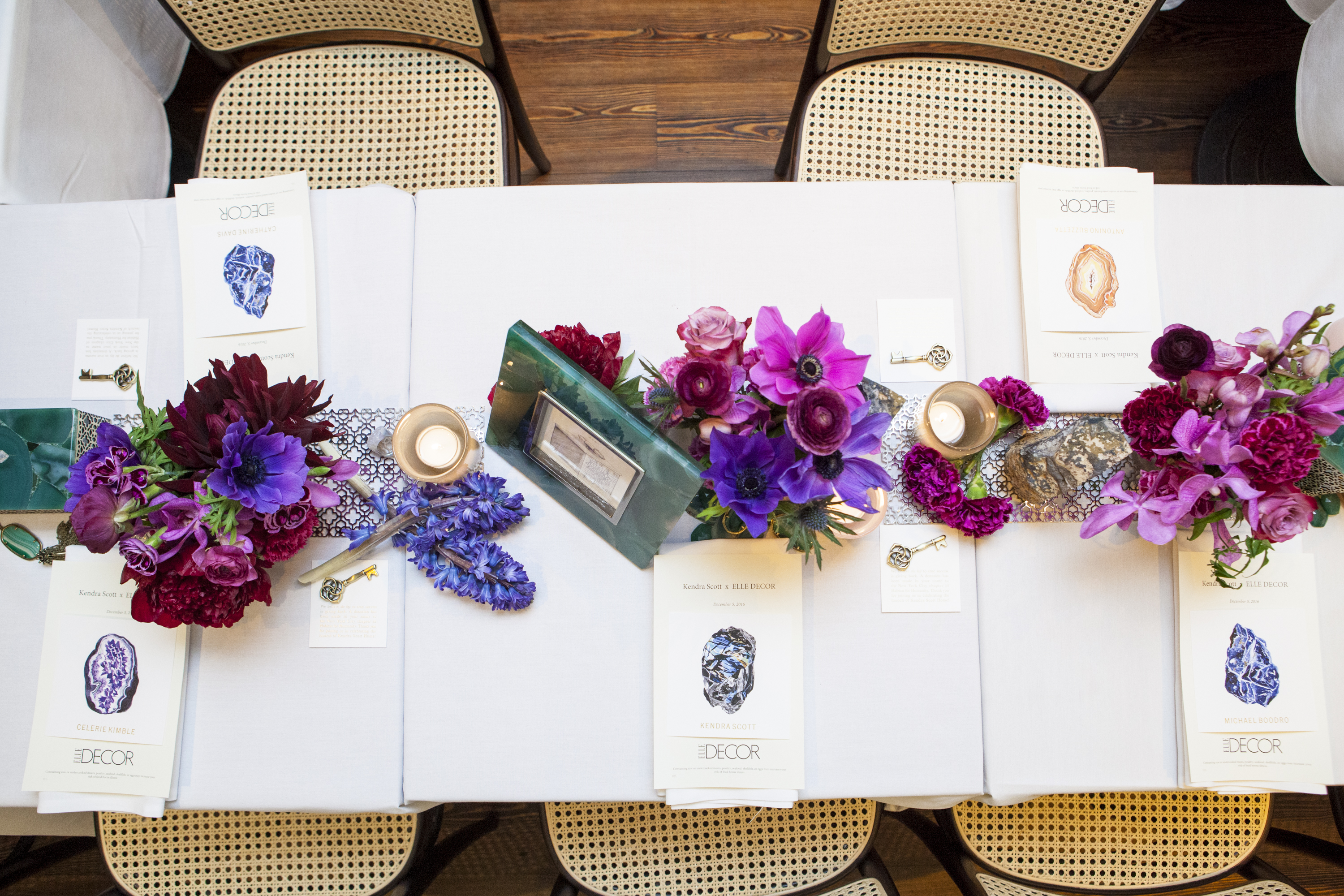 Tablescape highlighting the Green Banded Agate gemstone