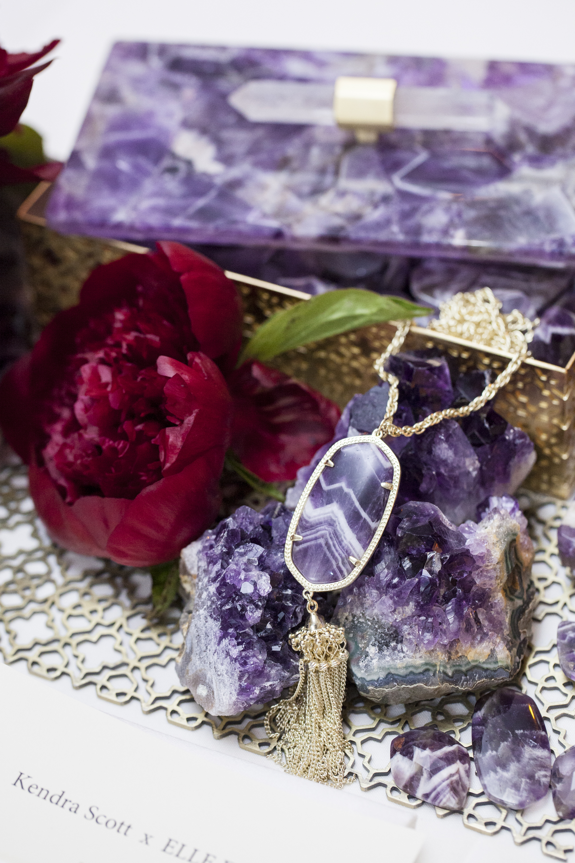 Purple details from the Kendra Scott Home Collection