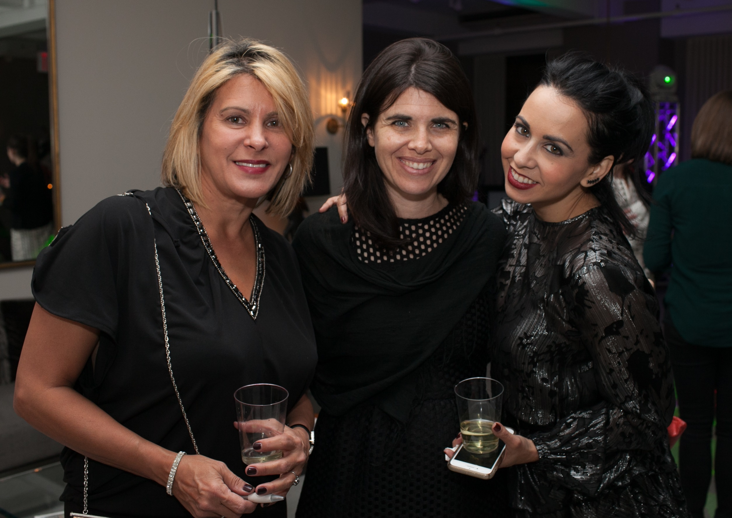 Barbara Ortega; Danielle McWilliams, ASID NY Metro director of communications; and Vanessa Deleon, director at large
