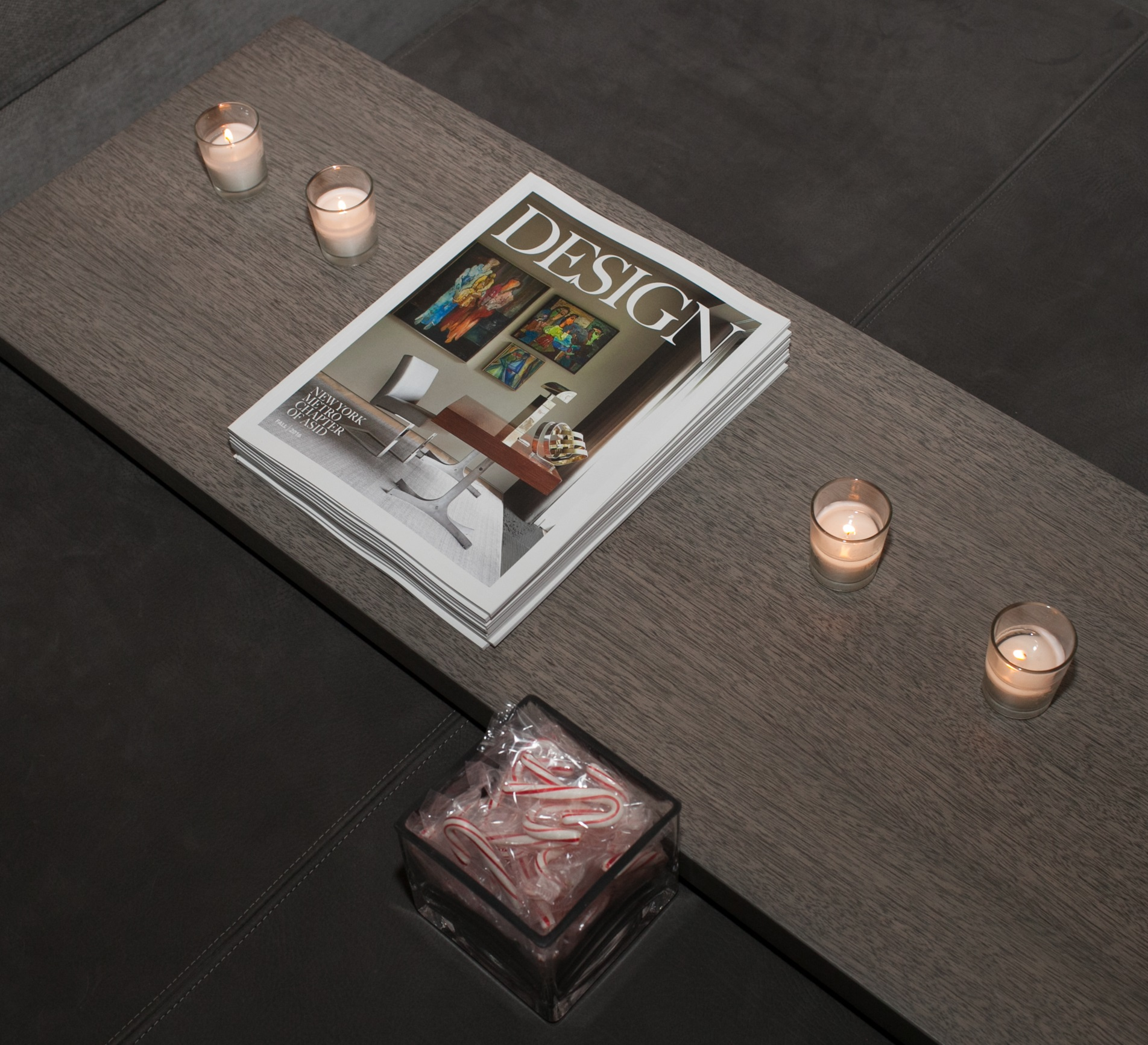 The new DESIGN magazine was on full display around the Bright Group showroom.