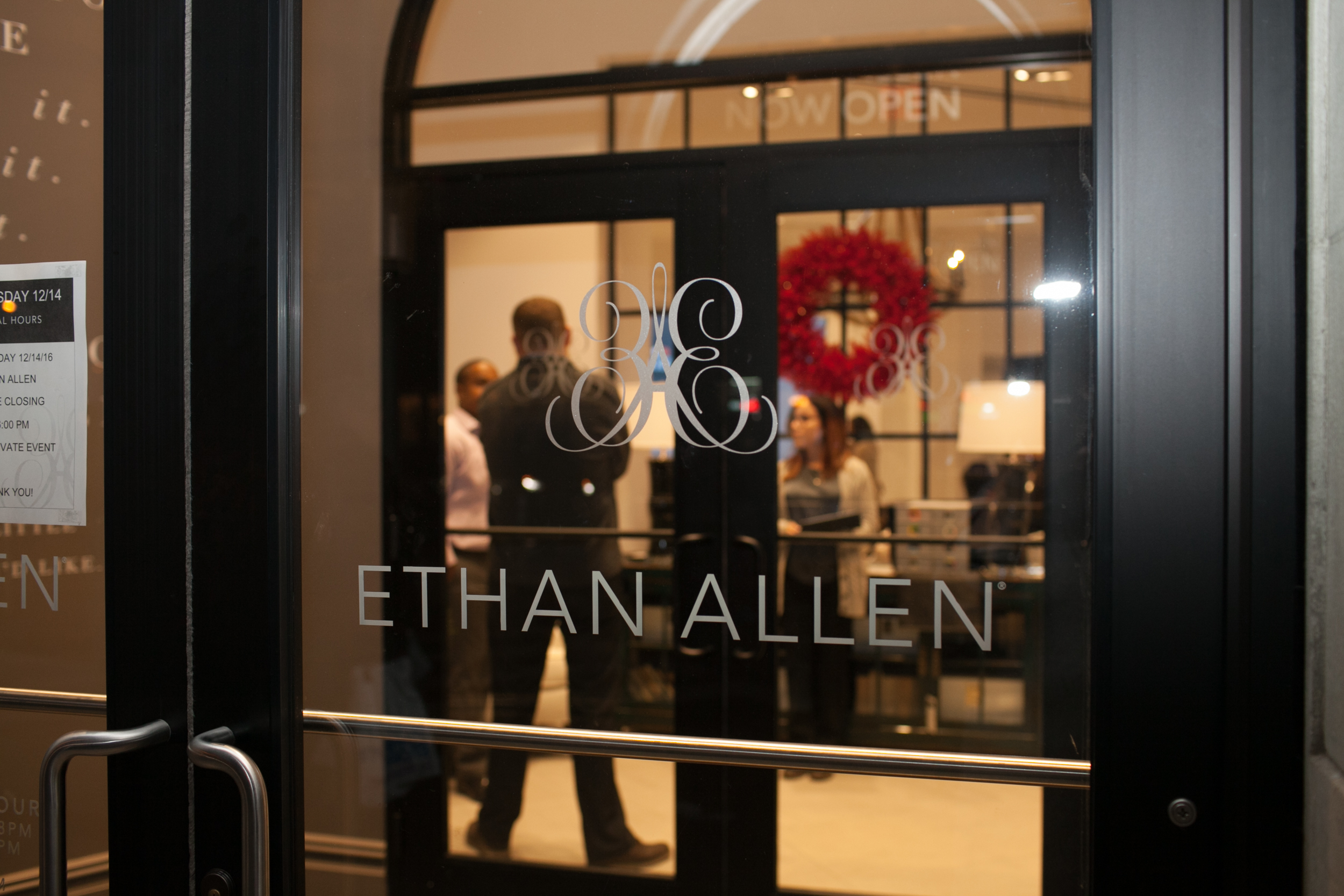 Outside of the Ethan Allen showroom