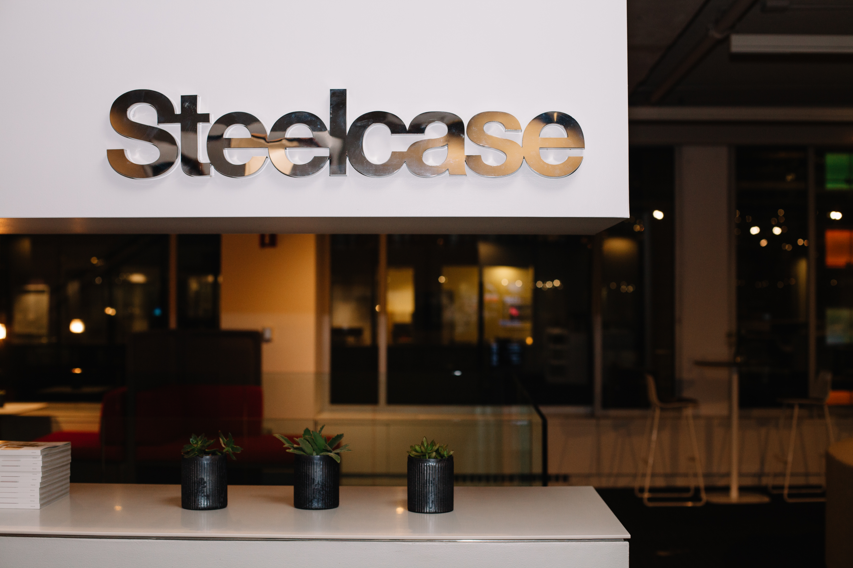 Steelcase hosted the event at its showroom.