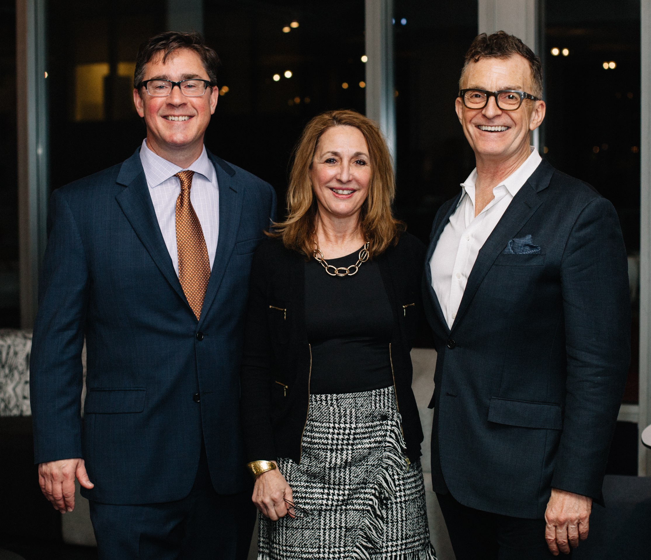 Thom Banks, executive director of CIDQ; Pamela Durante, president of IDLNY; and Glenn Gissler, president of ASID New York Metro