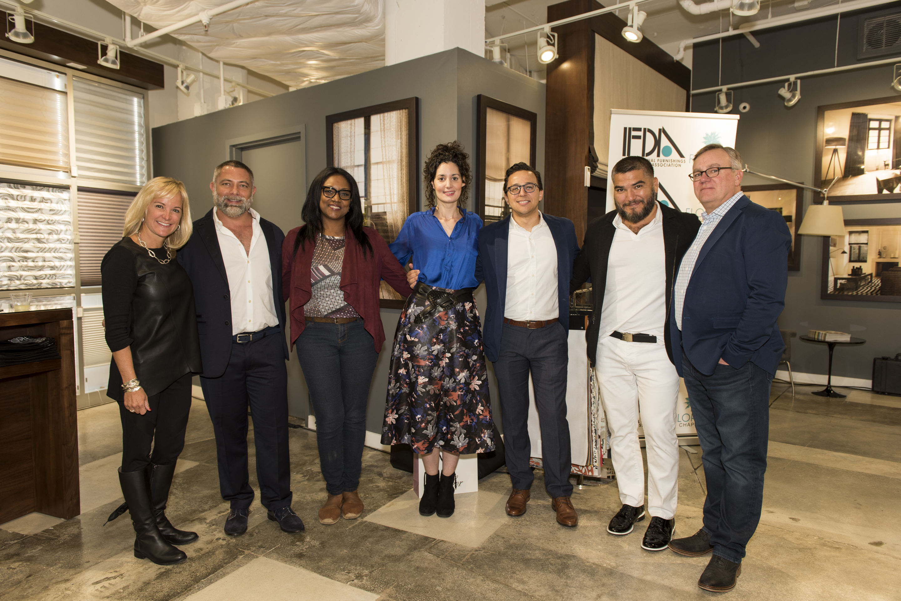 Allison Paladino, David Charette, Judy Henry, Arianne Nardo, Anthony Paulino, Jay Britto and Michael Crotty, CMO of The Shade Store