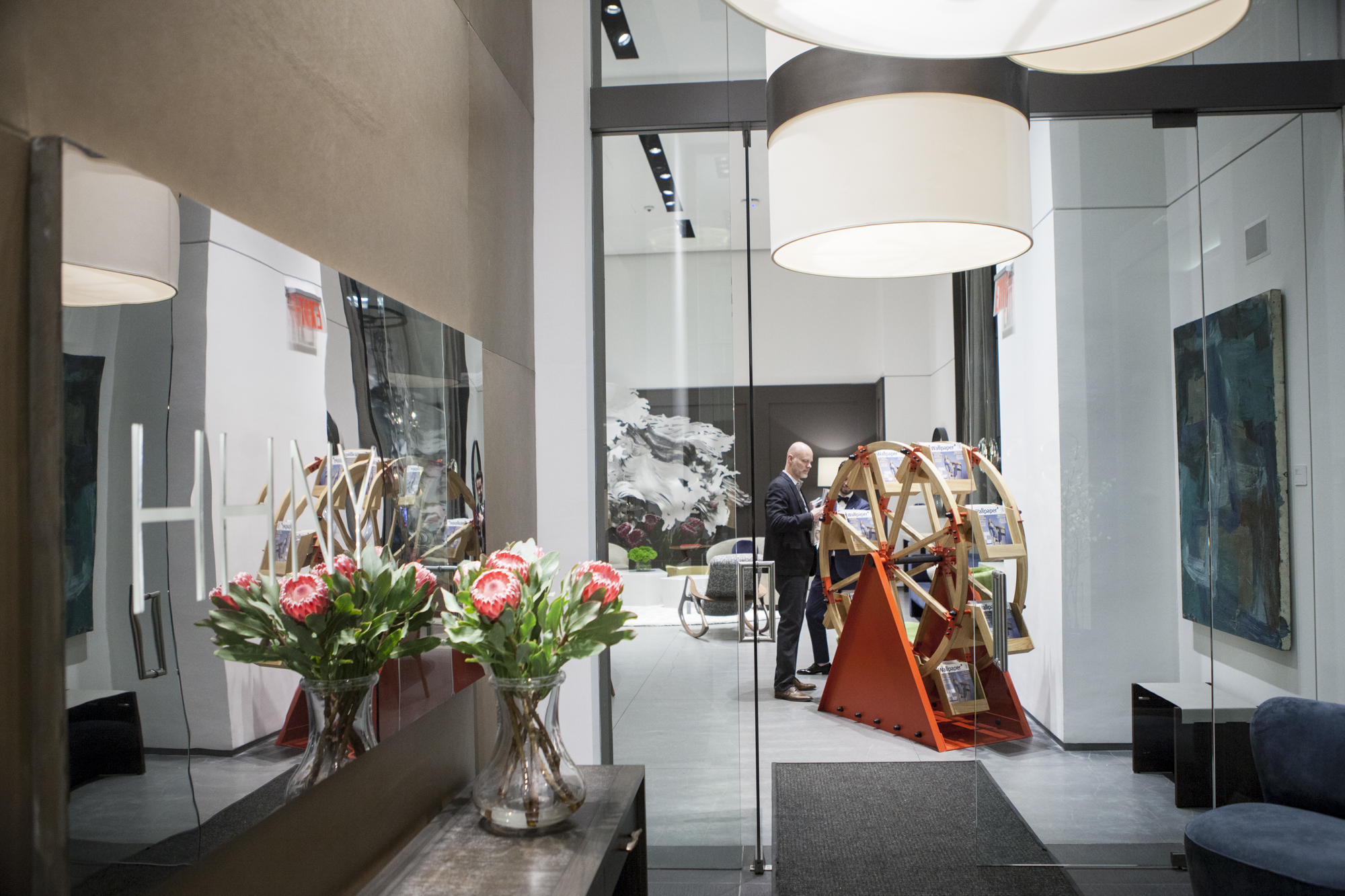 Front entrance of the Holly Hunt New York showroom