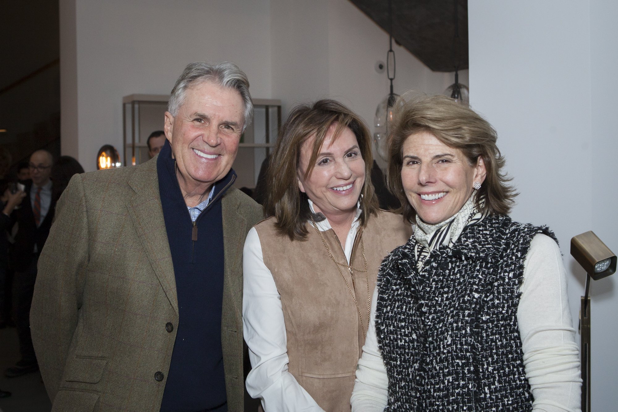 Robert Johnston, Christy Ferer and Susan Francesca Orsini
