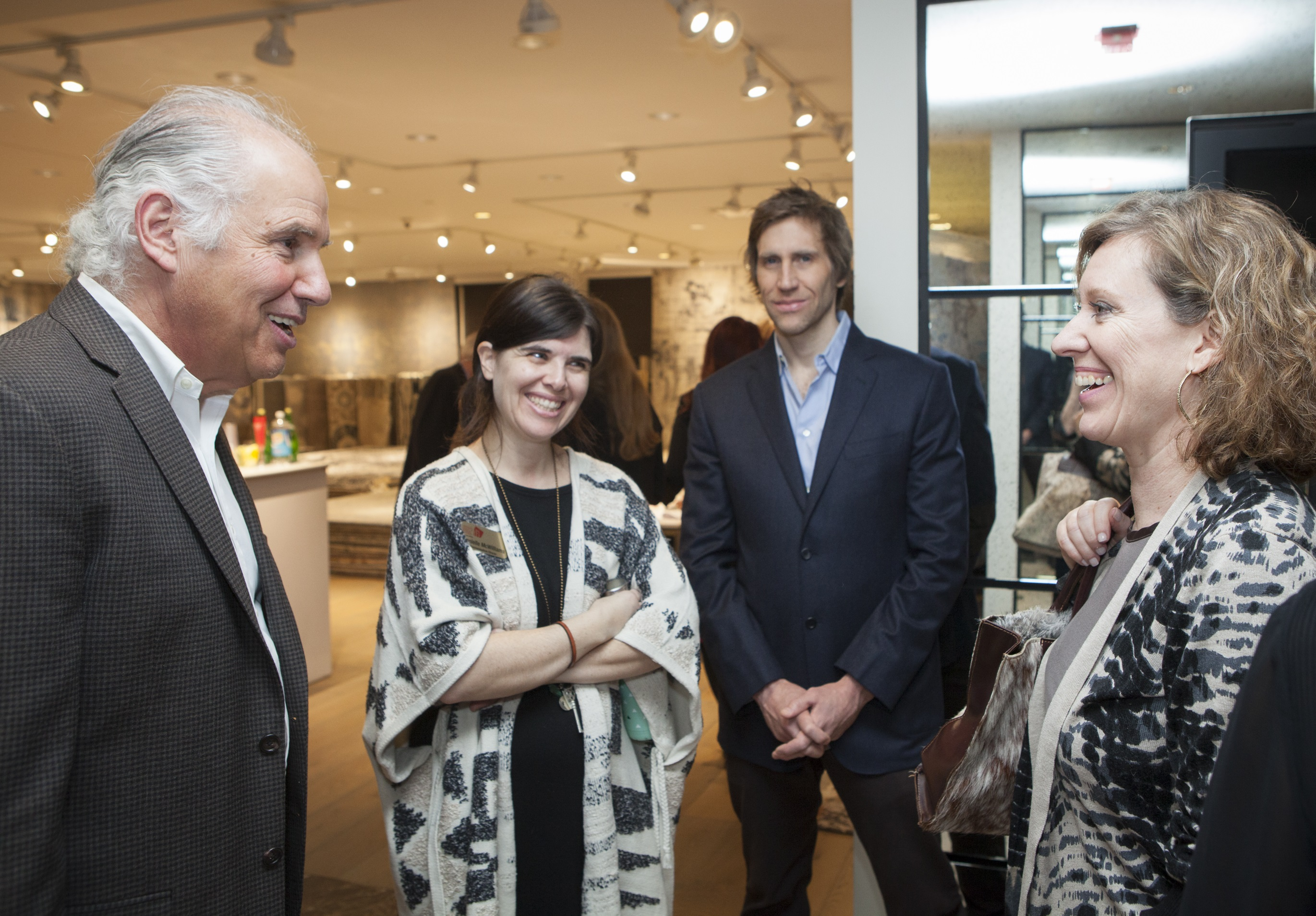 Steve Mandel, ASPIRE Communications, with Danielle McWilliams, communications director of ASID NY Metro, and Diana Mosher