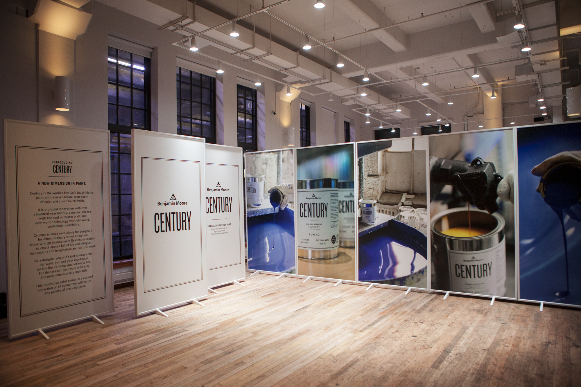 Large-scale panels greeted guests and illustrated the behind-the-scenes process for creating CENTURY.