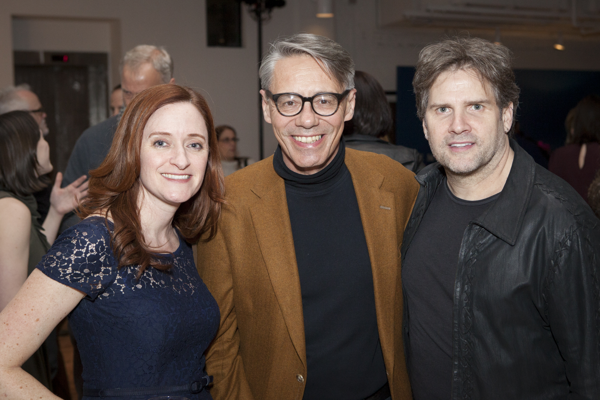 Veronica Arcaroli, director of the Architect and Designer Segment at Benjamin Moore; Ken Wampler, executive director at Alpha Workshops; and Darrin Varden, designer