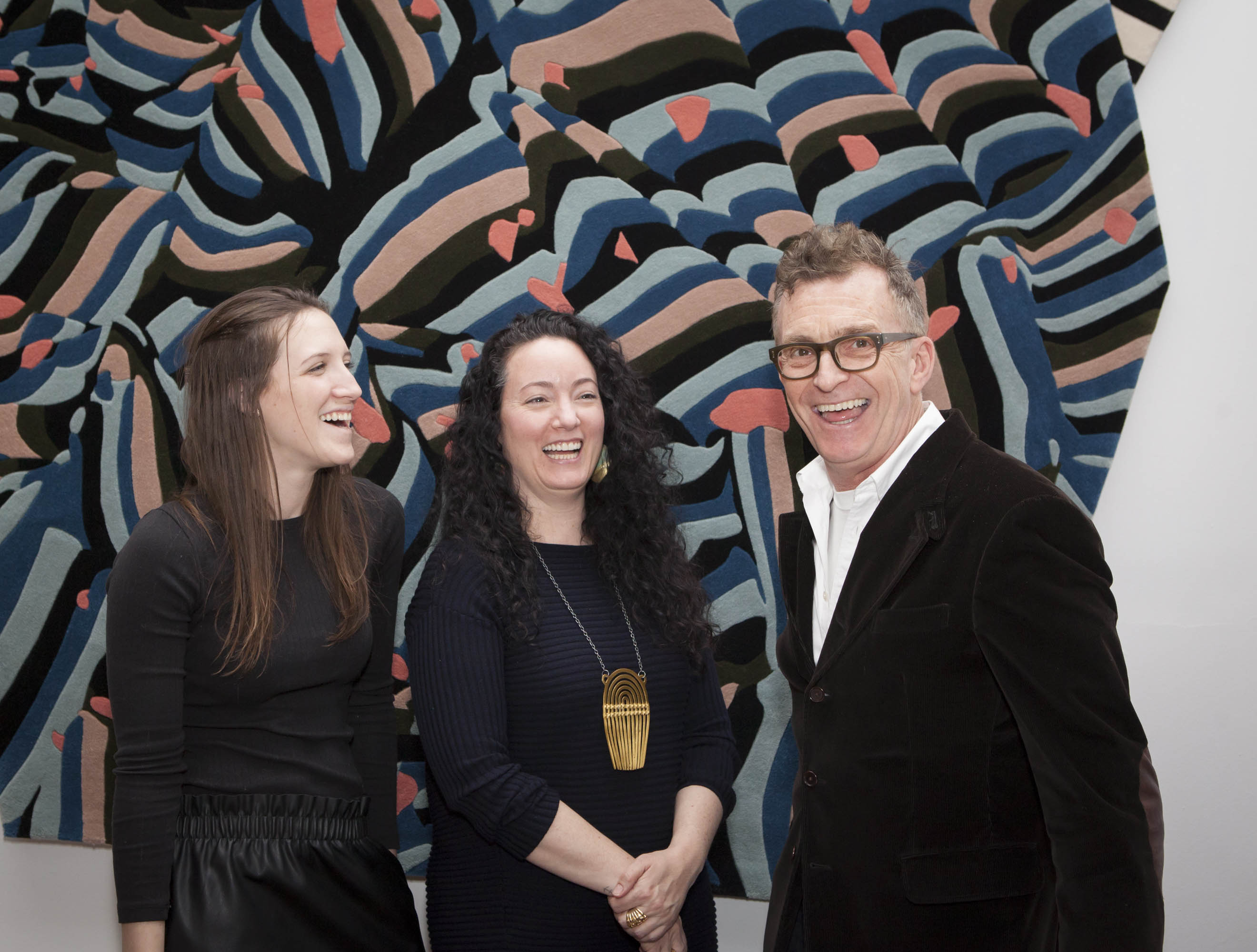 Bonnie Hoeker, Lora Appleton and Glenn Gissler share a laugh at the end of another great Emerging Designer Event.