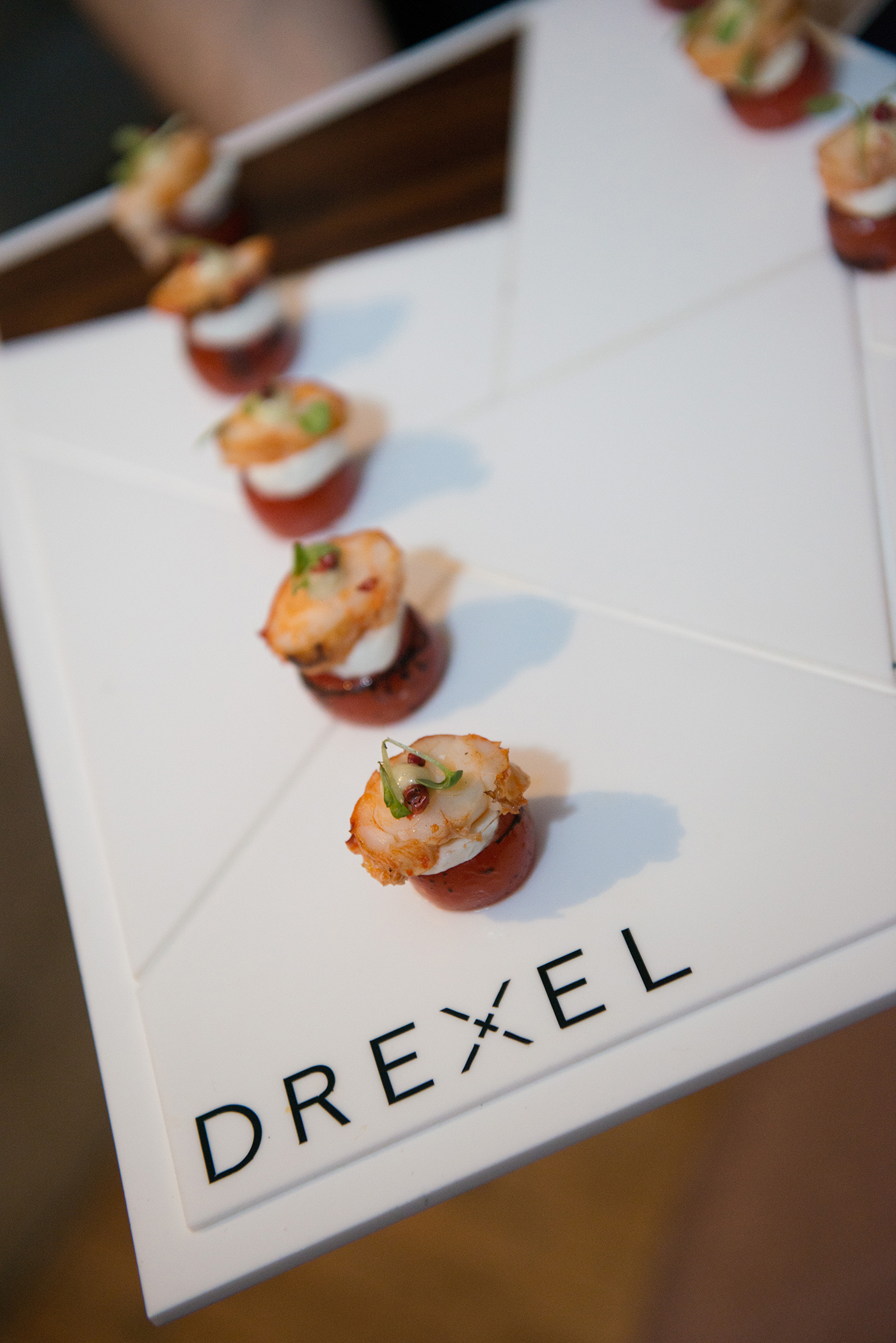 Appetizers served at the party
