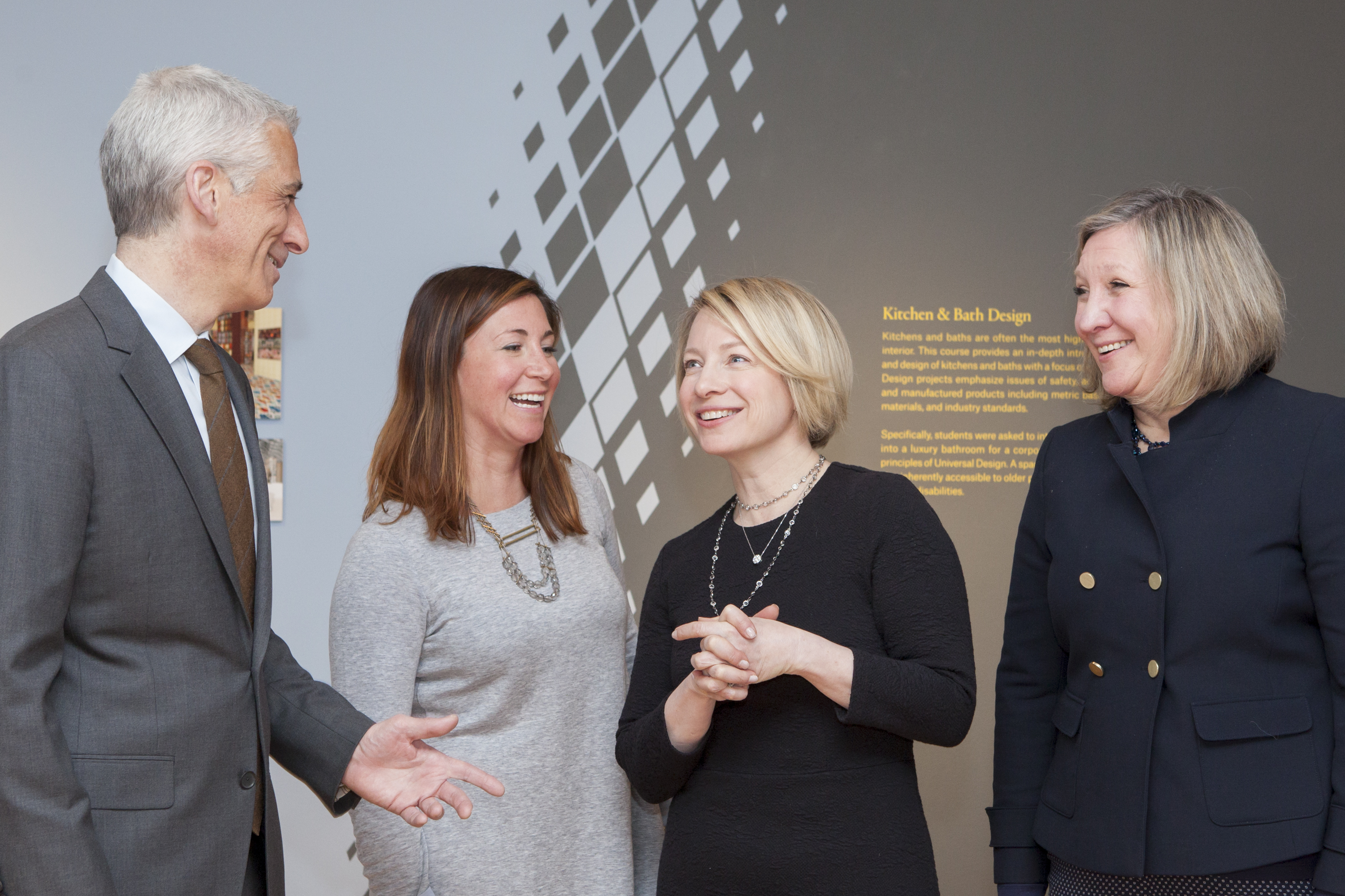 Paul Murray, Farrow & Ball northeast regional sales manager; Jessica Ritchie, Farrow & Ball vice president of northeast sales; Christine Haney, Farrow & Ball North America designer marketing manager; Lynn Galvin, Farrow & Ball northeast design and architecture manager