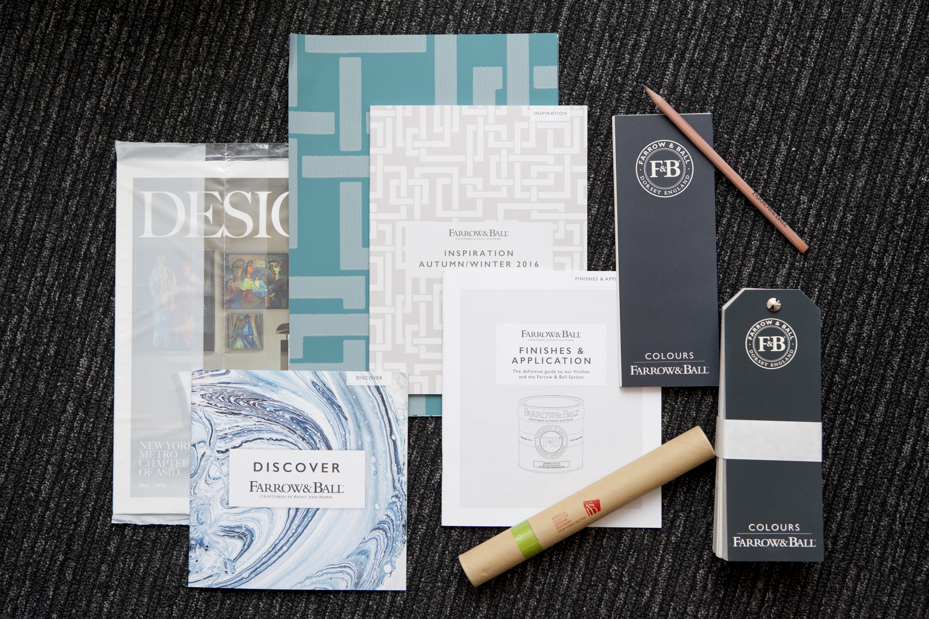 ASID and Farrow & Ball materials for guests