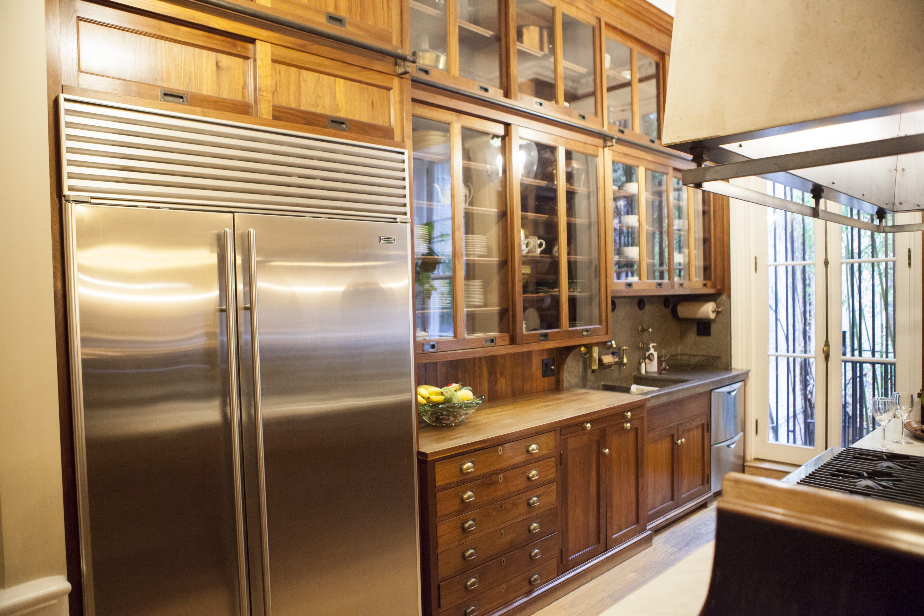 A closer look at the completely custom kitchen