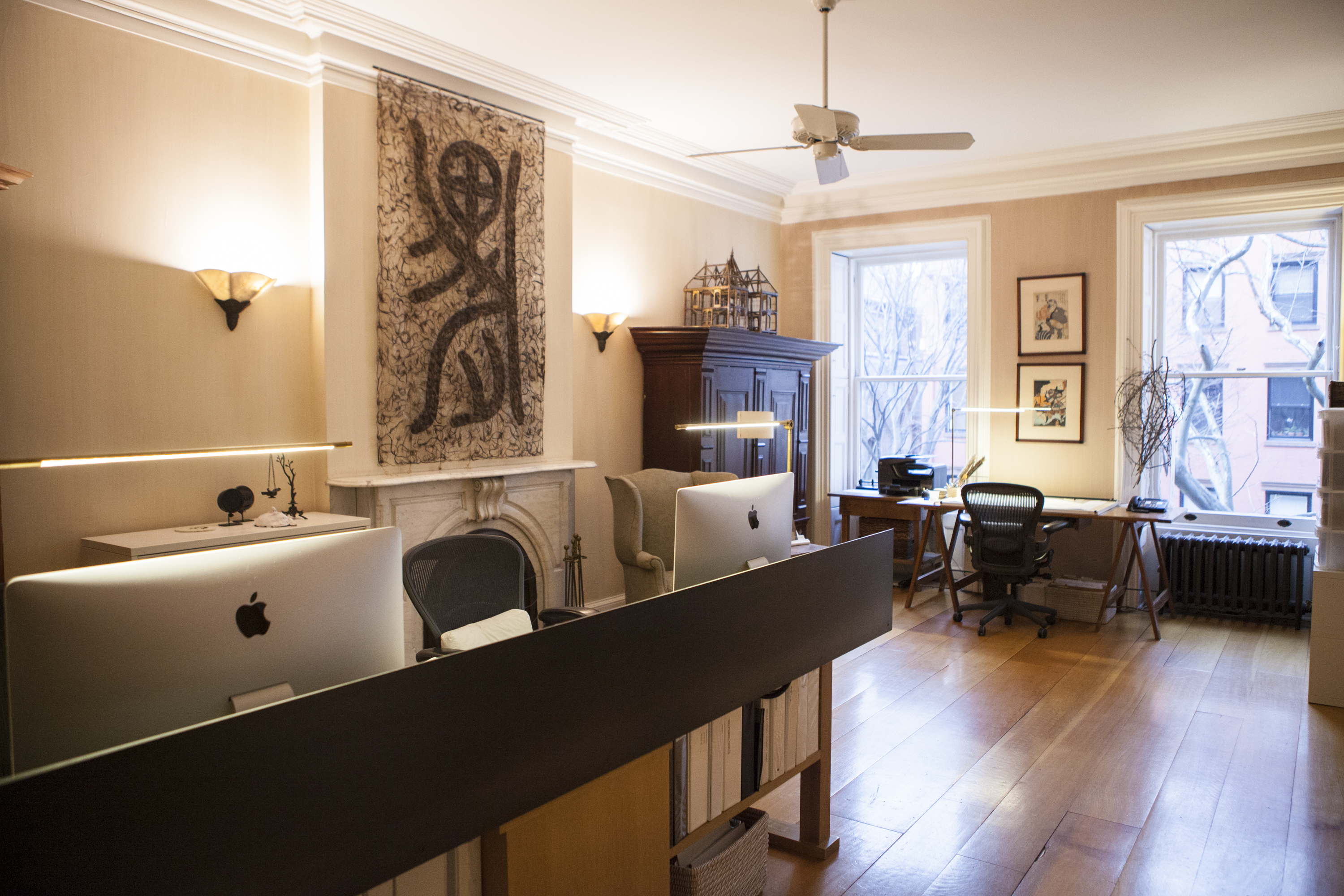 The Kathryn Scott Design Studio, on the second level of the townhouse