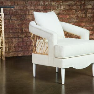 Badgley mischka accent chair front