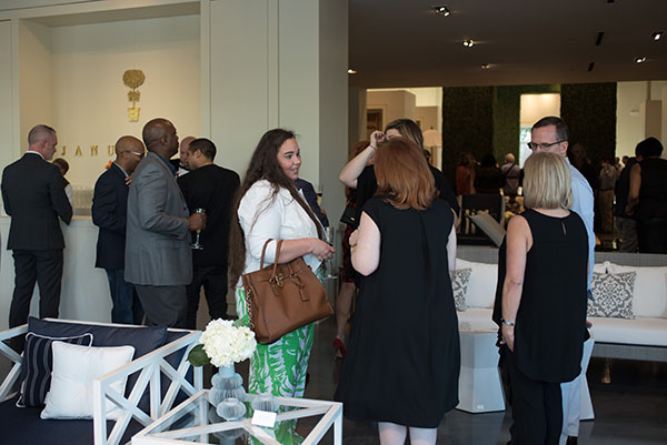 Guests throughout the showroom