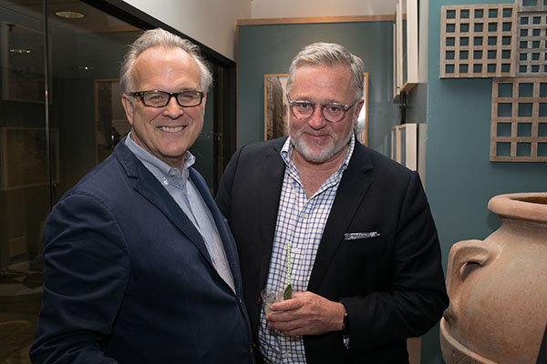 John Danzer, principal at Munder Skiles, and Newell Turner, editorial director of Hearst Design Group