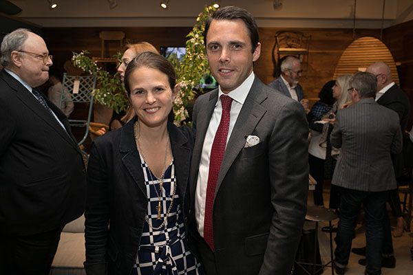 Kate Wood and David Sprouls, president of New York School of Interior Design