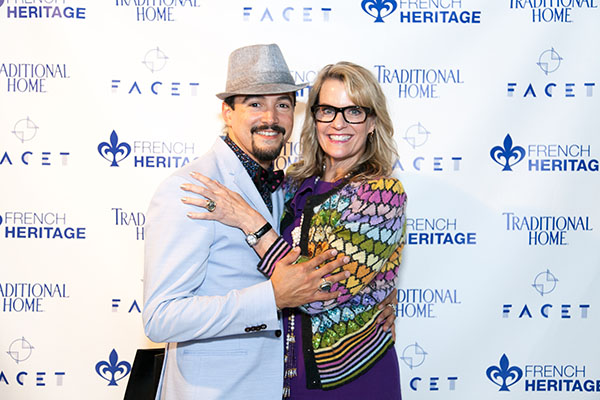 Designer David Santiago and Julia Buckingham