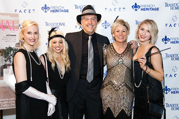 Kerrie Kelly (second from right) and her design team with Vincent Catalano