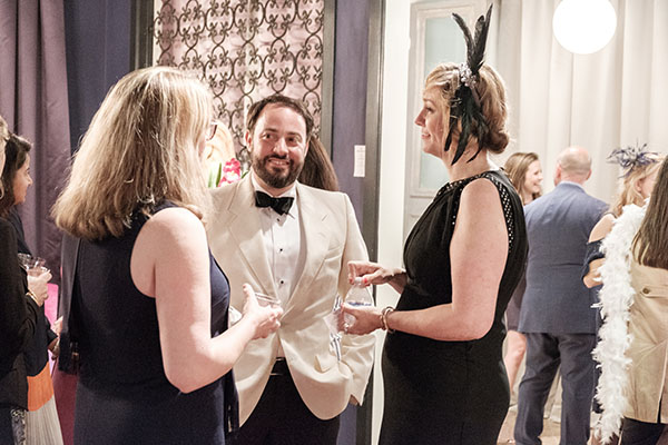 Michelle Workman and her husband, Justin Workman, talk to Jill Waage, Traditional Home editor in chief