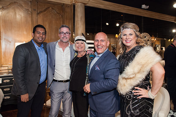 Dwayne Clark (second from right) and his team from DC Interior Design Management Group
