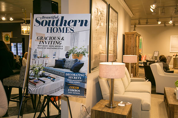 The Southern Homes cover in the CR Laine showroom