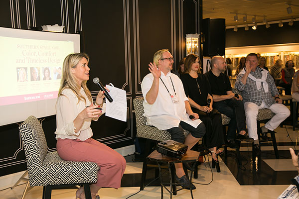 Tori Mellott, Traditional Home's senior style and markets editor,  begins the panel discussion.