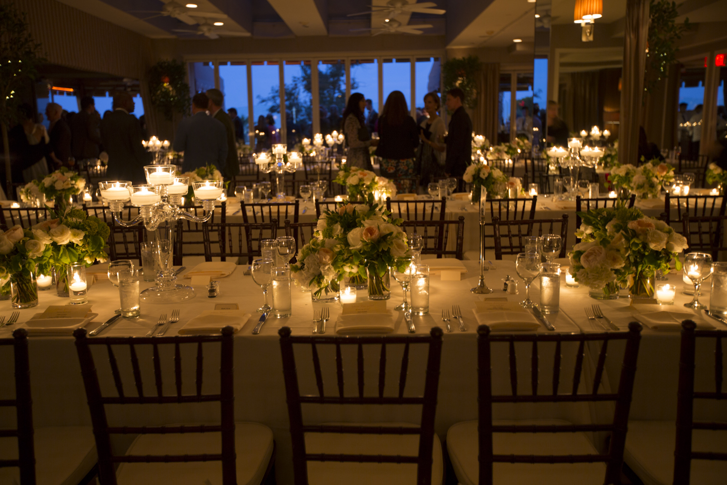 Guests were treated to a custom menu and seated dinner.