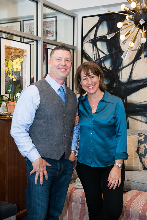 Scott Nemeth of Nourison and Elissa Grayer