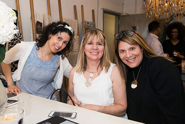 Denise Costantino and Felicia Arago of Unfauxgettable Finishes, with Michele Alfano of Michele Alfano Designs