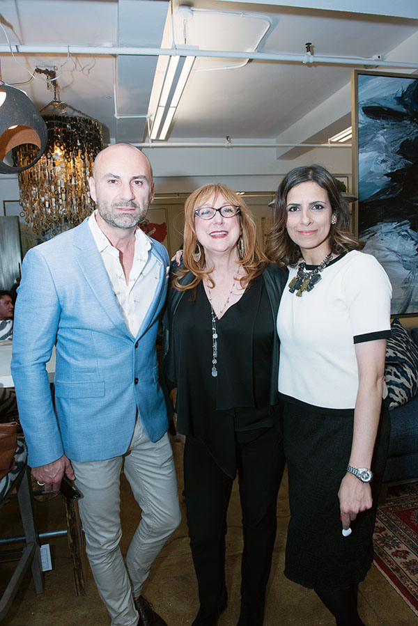 Vlad Tomasevic, Robin Baron, and Samira Mohammad, showroom manager