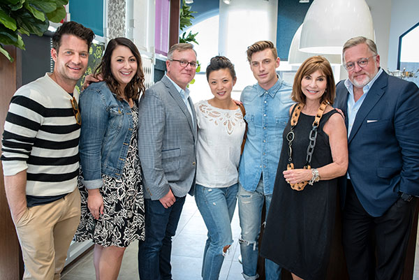 Nate Berkus, Samantha Cuello, Michael Crotty, guest, Jeremiah Brent, Nancy Golden and Newell Turner