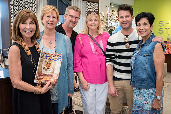 Nancy Golden, Ann Parenti, Nate Berkus and Diana Tennyson-Nielsen with guests
