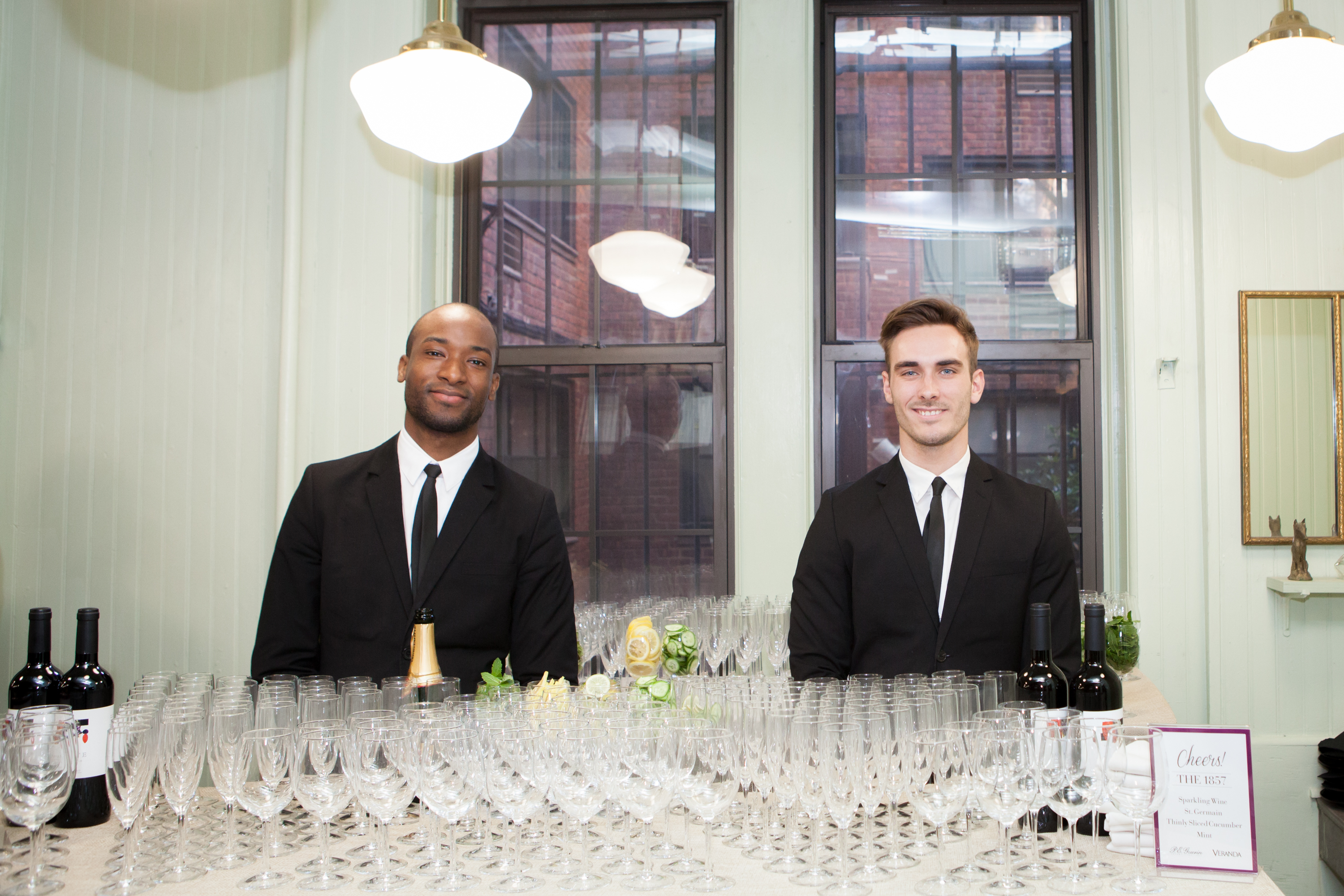 Guests enjoyed cocktails and hors d'oeuvres from premier catering company Tastings NYC.
