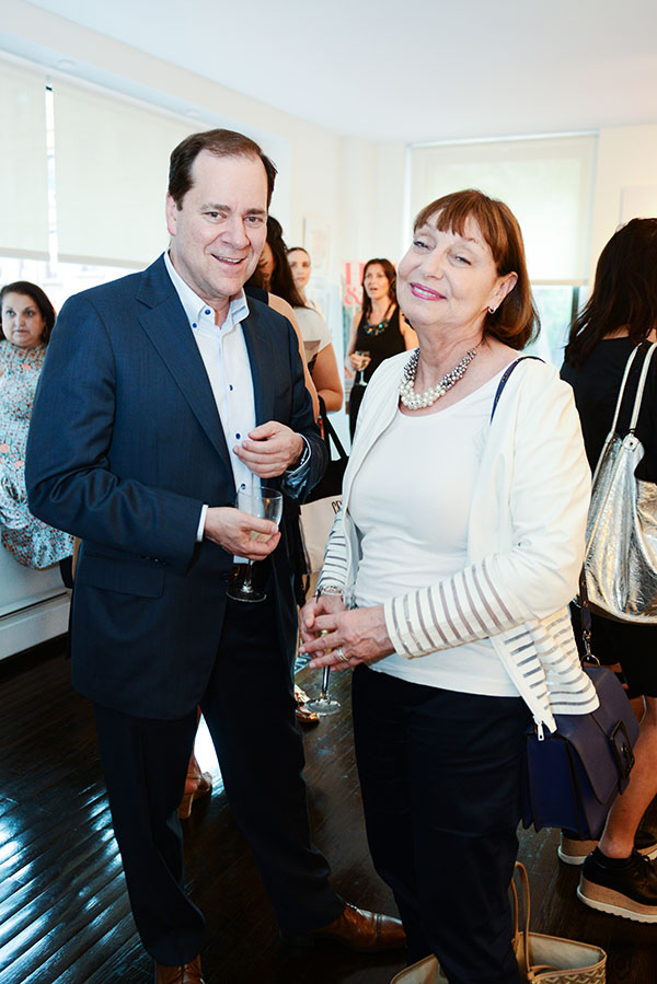 Cary Kravet, of Kravet, and Liz Nightengale, from the D&D Building
