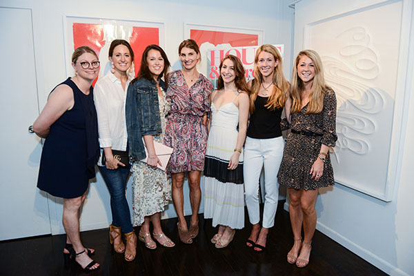 Jill Waage, Traditional Home (left) and Blair Clarke and Shannon Berger from Voltz Clarke Gallery celebrate the magazine with guests