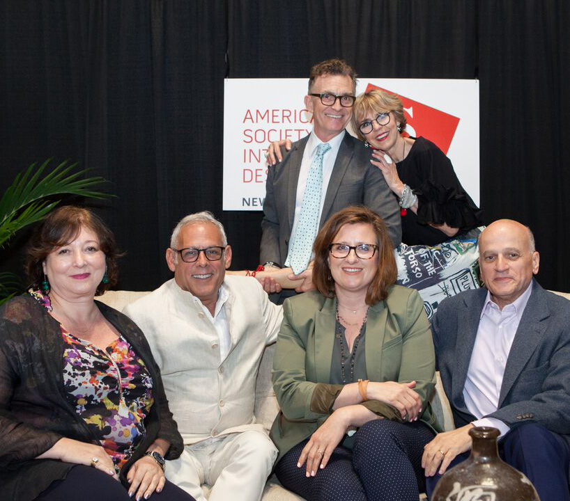 Power of Color: Gillian Rose, Anthony Baratta, Sue Wadden and Carl D'Aquino; (back) Glenn Gissler and moderator Bonnie Steves