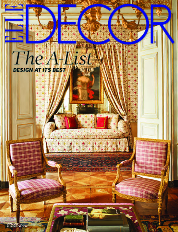 Elle Decor's A-List cover