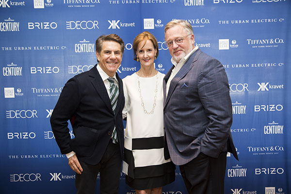 Designer Richard Mishaan with Kate Kelly Smith and Newell Turner, Hearst Design Group