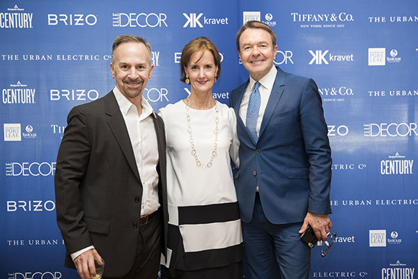 New 2017 A-Lister Thad Hayes with Kate Kelly Smith, Hearst Design Group, and Michael Clinton, Hearst Magazines