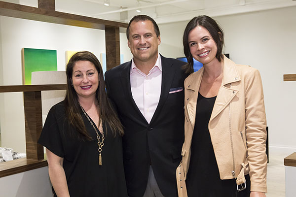 Theodore Alexander president Jeremy Hoff with Ann Feldstein and Jennifer Powell Tumpowsky of Moxie Marketing and Communications