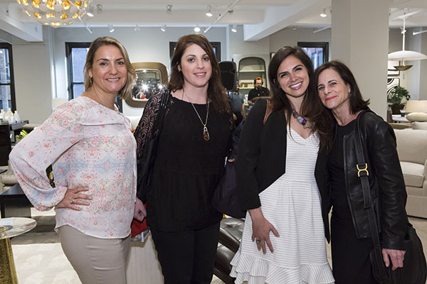 Lyanne Augustyn, Stephanie Green and Catherine Ruvolo of Robin Baron Design & Collection, and Wendy Silberstein of The Aesthetic Organizer