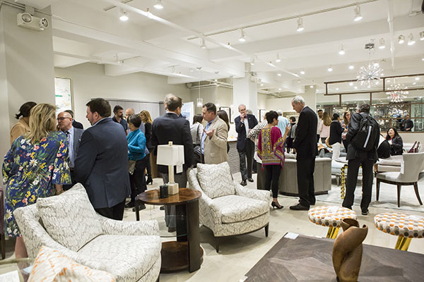 The launch of the Robin Baron's Rug Collection at the newly expanded Theodore Alexander showroom she designed