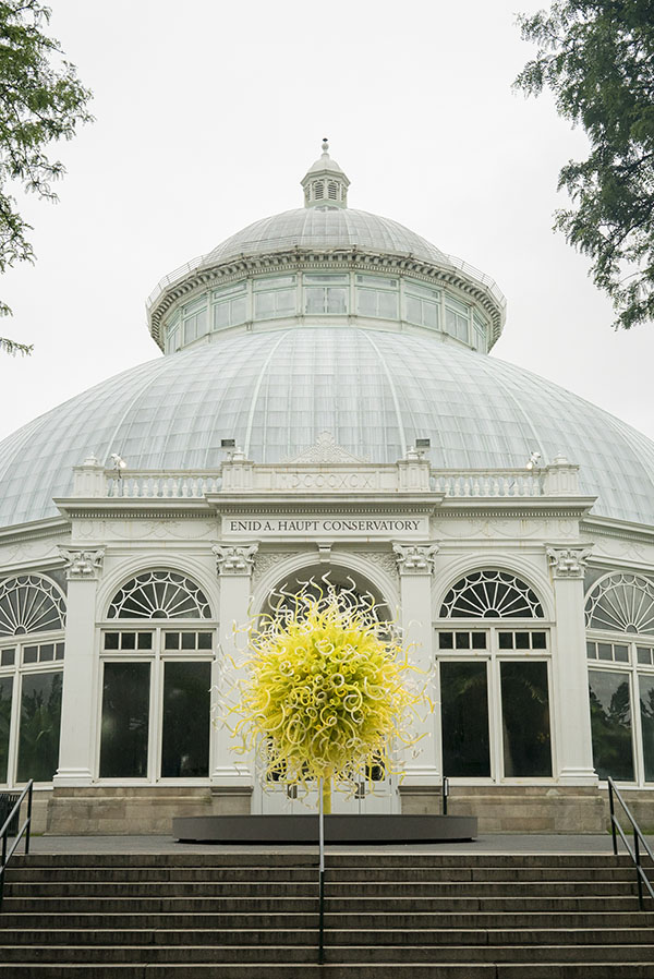 Outside view of the New York Botanical Garden