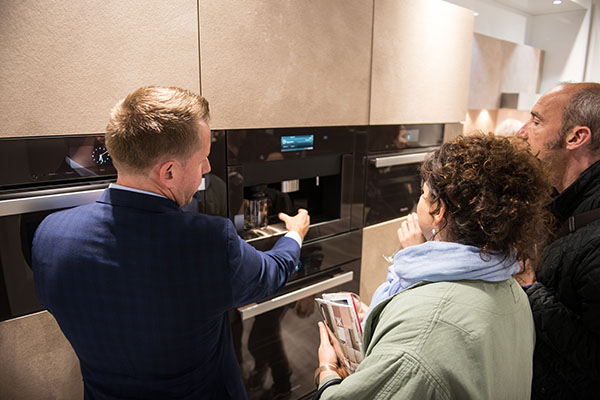 Attendees explore the Miele Manhattan Experience Center.
