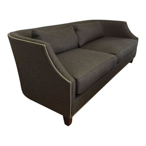 Louis J. Solomon Transitional Gray Sofa