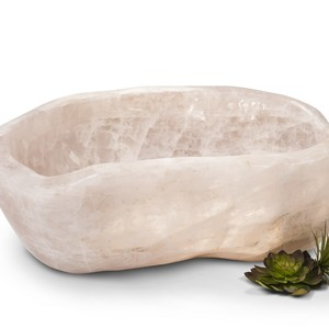 ROSE QUARTZ BOWL