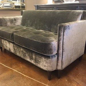 Custom Velvet Emerson Loveseat